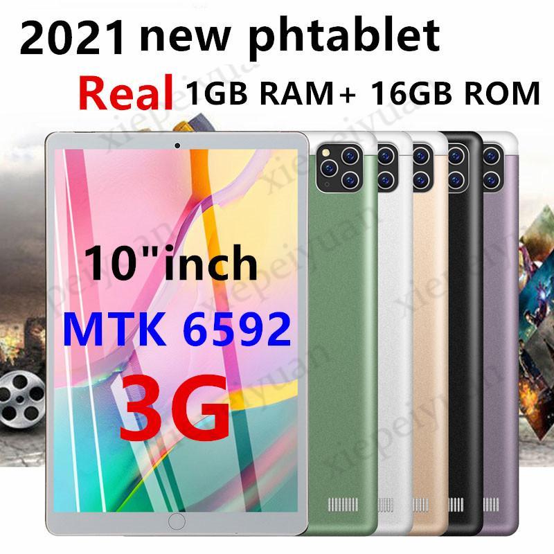 2021オクタコア10インチMTK6592デュアルSIM 3GタブレットPC電話IPS容量性タッチスクリーンAndroid 7.0 4GB 64GB