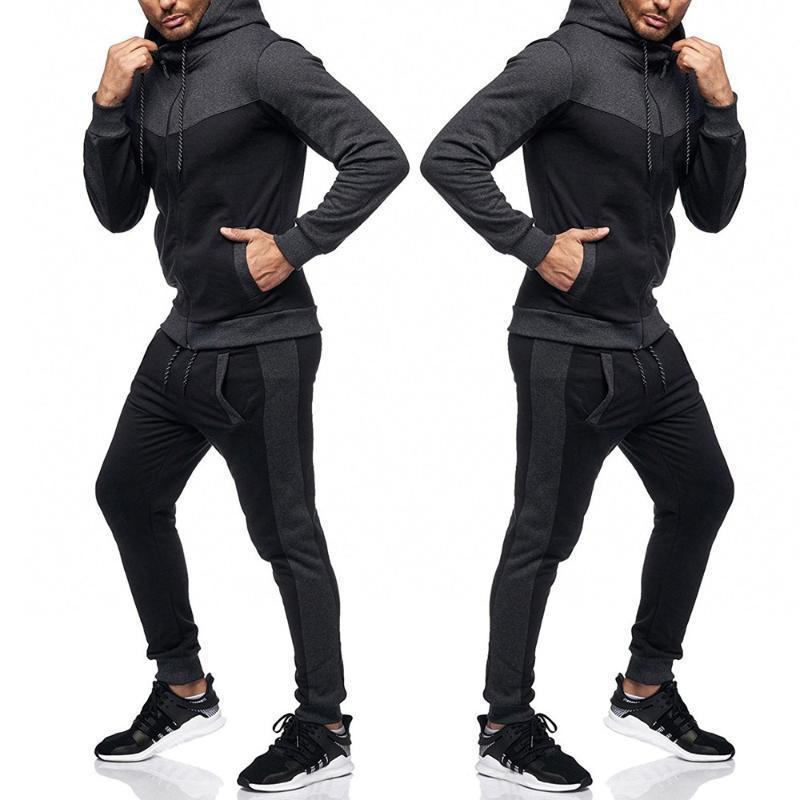 Sets deportivos para hombres Sudadera Sudadera Top Pantalones Conjuntos Sports Traje Chándal Harajuku Sport Traje Corriendo Ropa deportiva Primavera Otoño