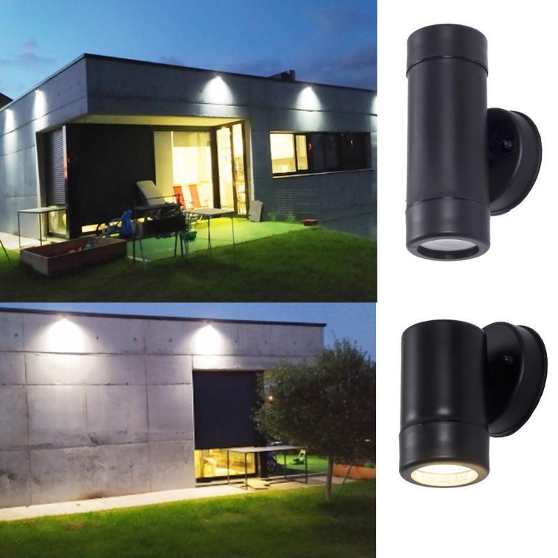플라스틱 LED 벽 빛 GU10 소켓 램프 야외 IP65 WATELOOF 건물 현관 SCONCE 조명 램프