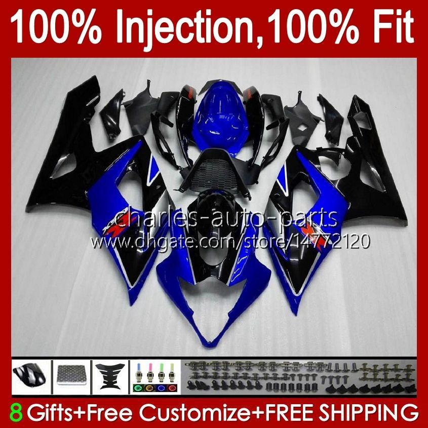 바디 + 카울 SUZUKI GSXR-1000 용 GSXR 1000 05 06 차체 11HC.38 GSX-R1000 GSXR1000 05 06 K5 GSX R1000 재고 빨간색 신형 2005 2006 Fairing kit