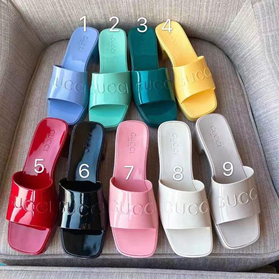 Chinelos de Sandálias de Qualidade Sandálias Slides Fashion Beach Gréssimo Slipper Plataforma Alfabeto Senhora Borracha De Salto Alto Slide por Sho02 01