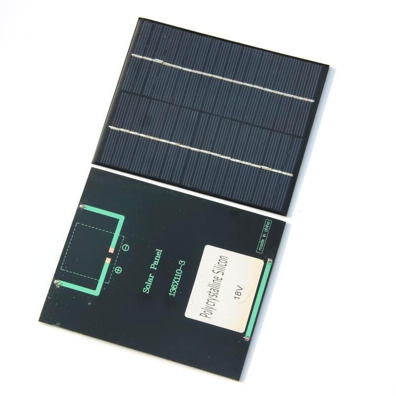 2Watt 18V Mini Solar Cell PolycRystalline Panel caricabatterie per batteria di alimentazione 12V 110 * 136 mm 10pcs / lot