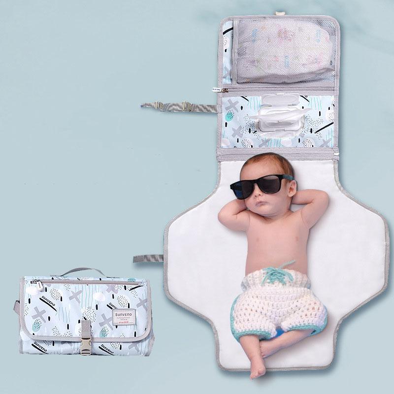 Sunen Sunen Baby Mudando Esteira Portátil Dobrável Lavável Lavável Colchão Mudança de Almofada Tapetes Reutilizáveis Fralda de Viagem Fralda 791 Y2