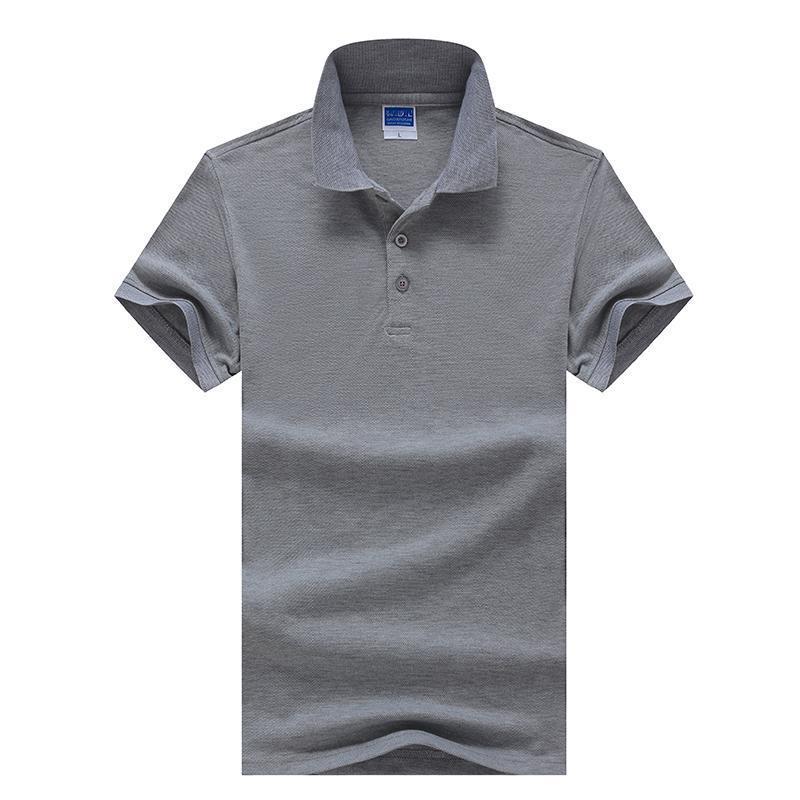 New novo casual camisa polo homens marca roupas moda negócio sólido polo camiseta manga curta respirável camisa polo masculina tendência