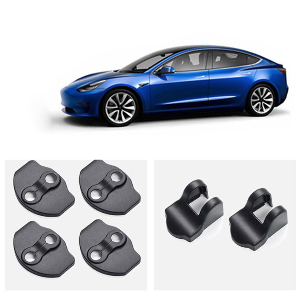 Tesla 모델 3 자동차 도어 잠금 커버 ABS 보호 커버 도어 방청 스토퍼 커버 모델 3 액세서리