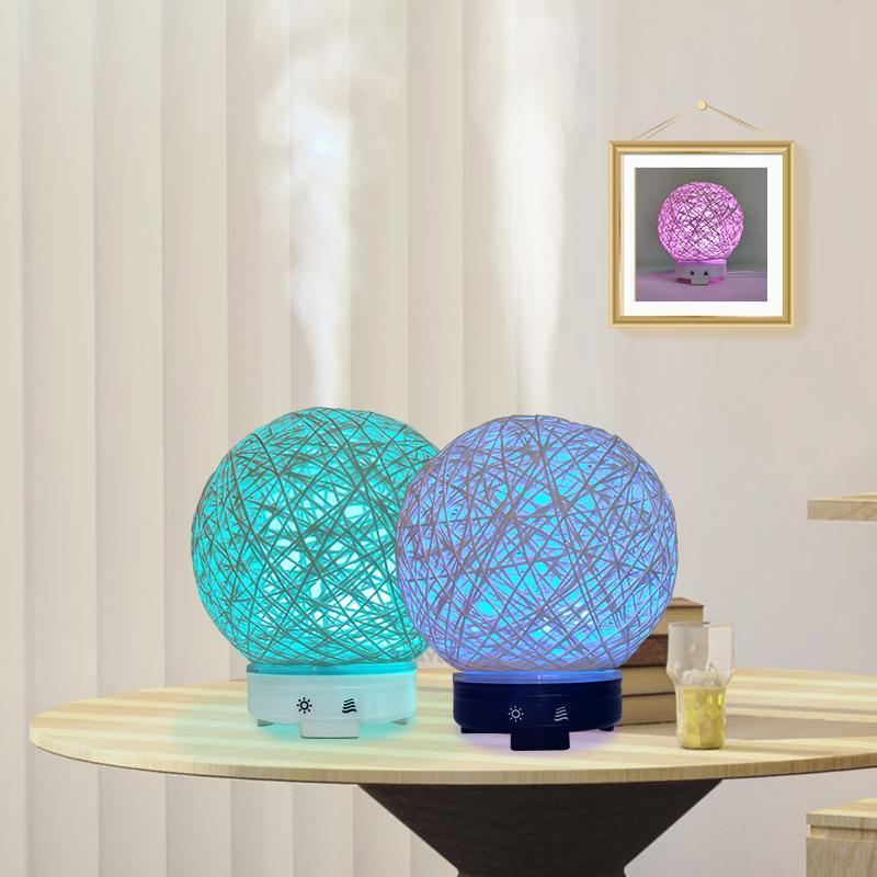 Эфирное масло диффузора аромат воздуха очиститель ароматерапевтический туман Maker Fogger с 7 цветами светодиодных увлажнителей