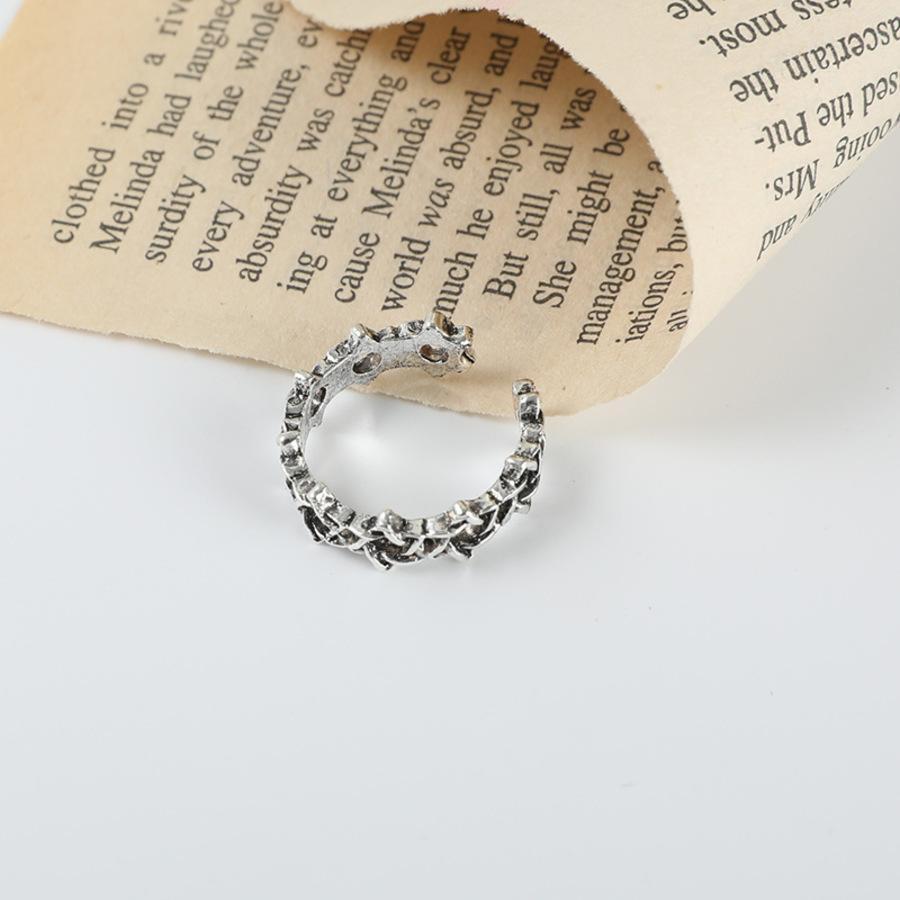 Coreia fez velho anel tecido oco de seis estrelas 6i67