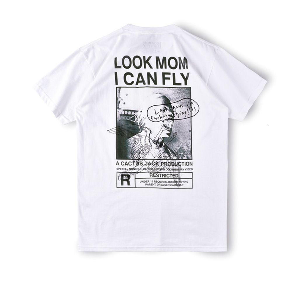 Travis Scott Look Mom I Can Fly Tst-Shirt Estate Graffiti Stampa T-shirt manica corta