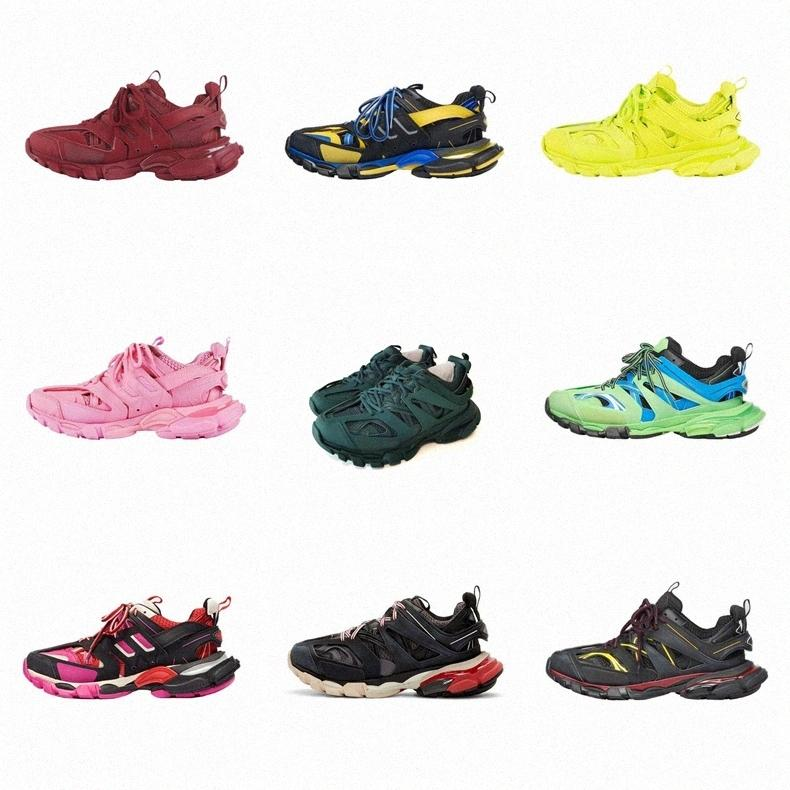 2020 track1.0 3.0 siyah beyaz turuncu gri led baba ayakkabı spor ayakkabıBalanciagaga Q6zu #