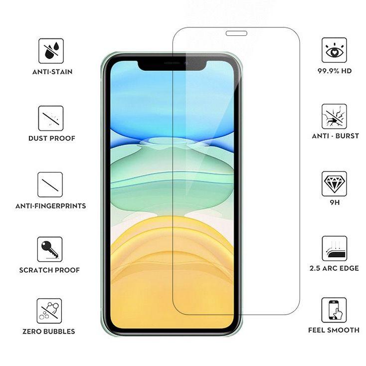 Cancella protezione per schermo in vetro temperato per iPhone 12 Pro Max Mini 11 XR XS x 8 7 6 Plus