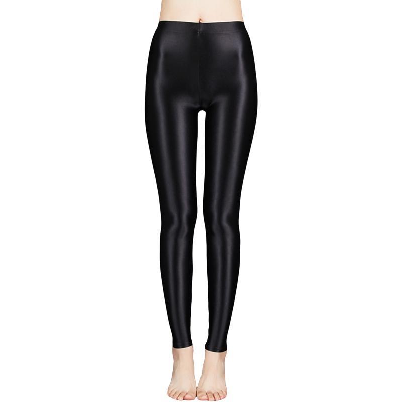Neue Satin Glänzende Strumpfhose Sexy Strümpfe Glänzende Yoga Hosen Leggings Sport Strumpfhosen Frauen Fitness Hohe Taille StrumpfhoseCer Jersey