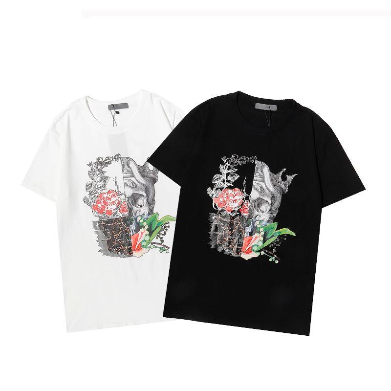 Erkekler Kadın T-Shirt Siyah Beyaz Kısa Kollu T Shirt Nedensel Yaz Tees Hip Hop Tişörtleri Moda Baskılı Streetwear İyi Kalite TR003