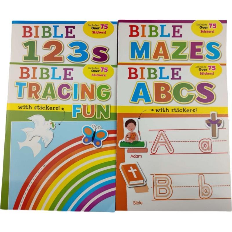 Наклейки серии Workbook Библия Исследование Книга Детей Раскраска Просвещение Обучение Обучение