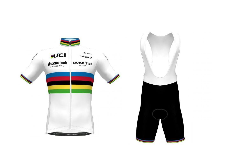 2021 Deceuninck Hızlı Adım Takım Dünya Şampiyonu Kısa Kollu Bisiklet Jersey Yaz Bisiklet Giyim Ropa Ciclismo + Önlüğü Şort 3D Jel Pad Set Boyutu: XS-4XL