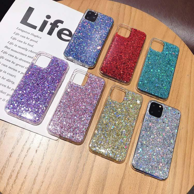 Diamond Skin Phone Cases Luxury Glitter Cover Case Soft TPU Bling Power Protection Shell per iPhone Apple 7 8plus xr x max