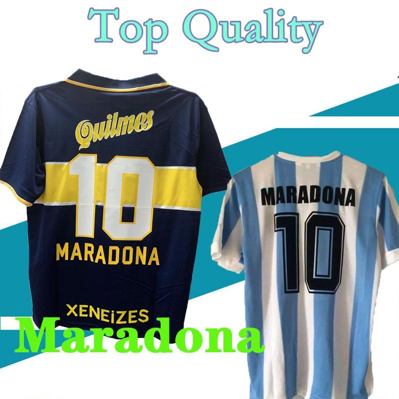 1997 98 Rétro Classic Boca Juniors Jerseys 2021 2022 Bocas Junior Jersey Diego Maradona Football Shirt