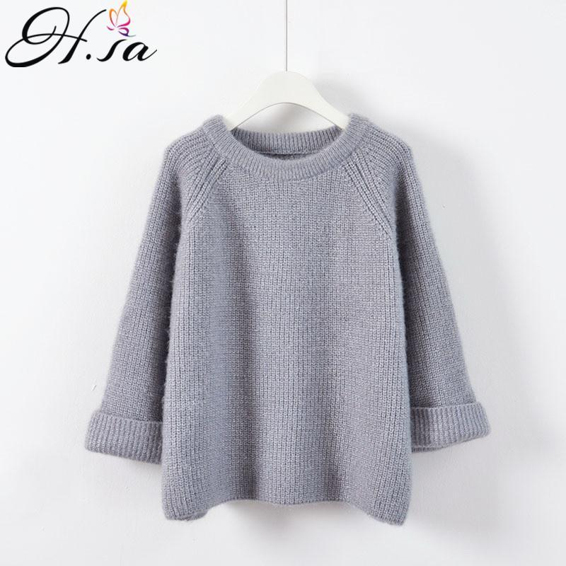 Women's Sweaters Hsa Women Winter Thick Pullover And Oneck Candy Color Pull Jumpers Christmas Clothes Overzized Sweater