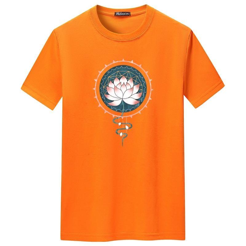 Мужские футболки 2021 лето O-шеи 60 хлопок повседневный с коротким рукавом Trend личности Футболка свободная дышащая