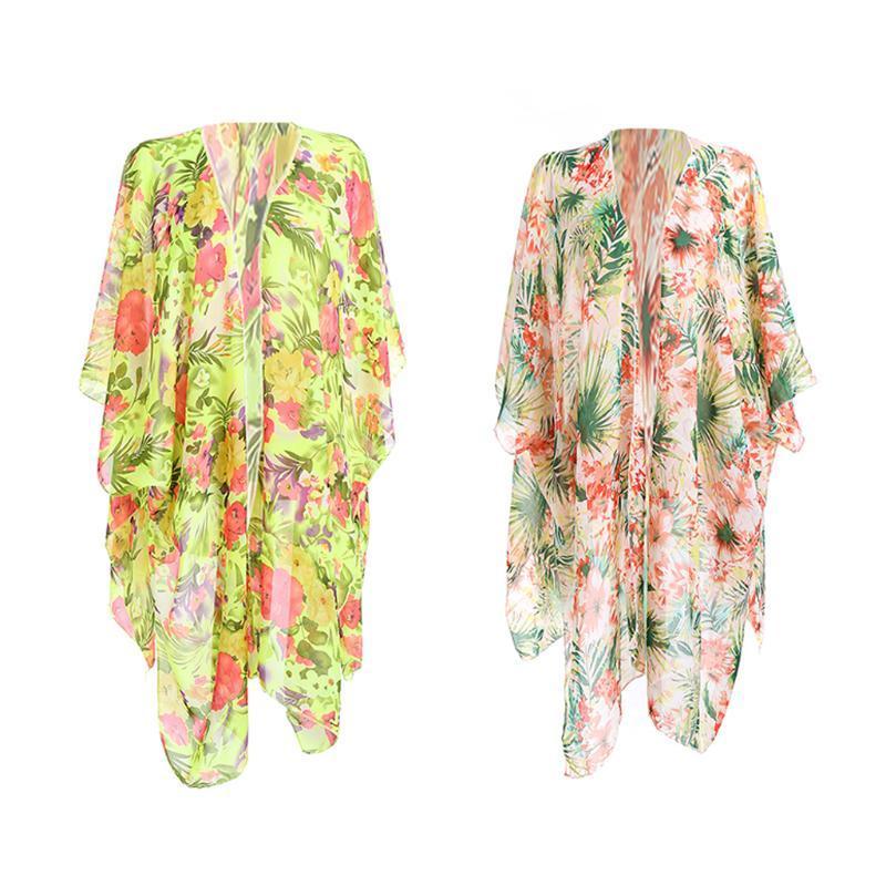 Mulheres Swimwear Verão Sexy Beach Cobertura Up Mulheres Dress Senhoras Kaftan Robe Kimono Cardigan Wear Swimsuit