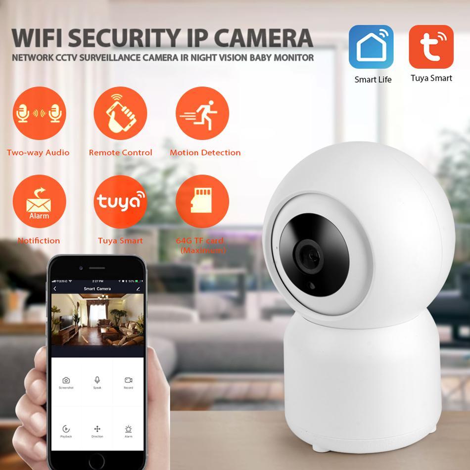 Tuya Smart Life WiFi IP Câmera 1080p Home Segurança Mini Câmeras Night Vision Infravermelho Dois Way Audio K3