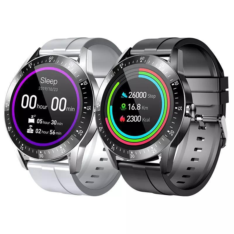 Full Touch Smart Watch Women IP67 Водонепроницаемый Браслет ECG Монитор сердечных сокращений Монитор Спящий Мониторинг Мужчины Спорт SmartWatch