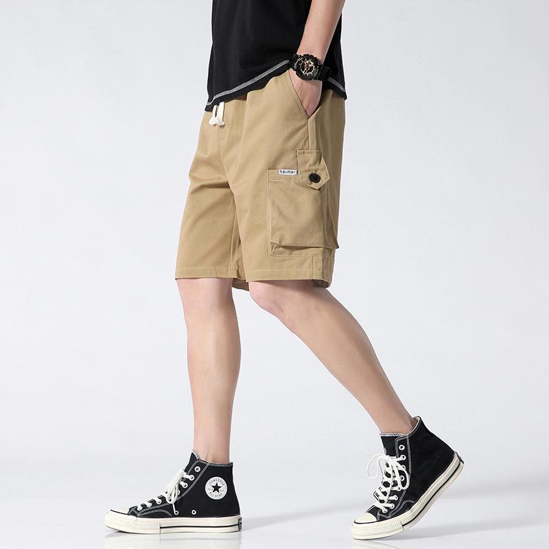 Мужские шорты большие 95 хлопчатобумажные комбинезоны мужские 2021 летние свободные и дышащие много карманные брюки трендов