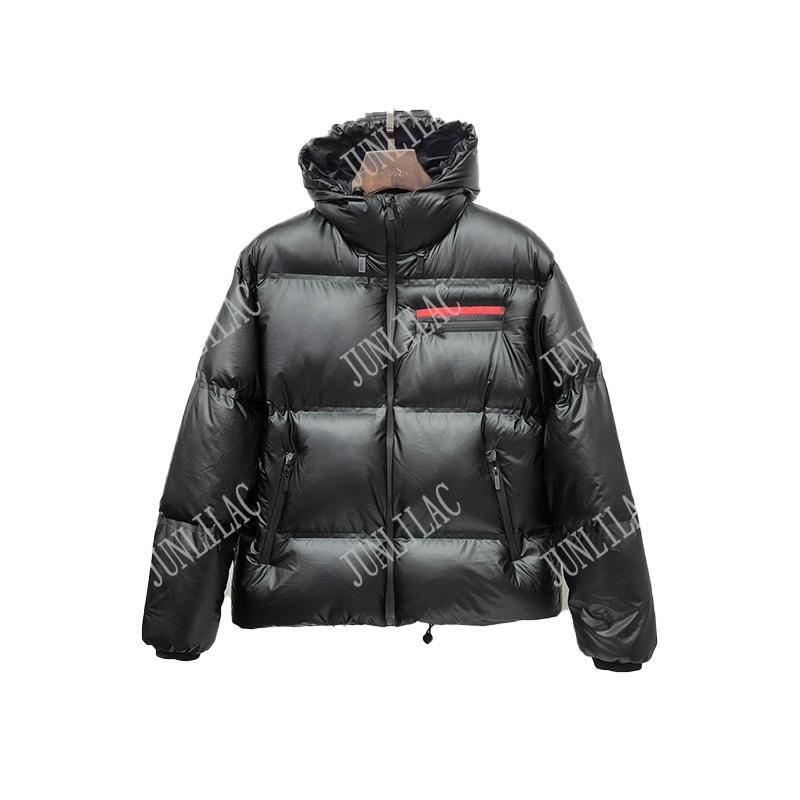 أعلى جودة الرجال سترة الشتاء سترة أسفل سترة الشتاء سماكة هوديي معطف الراقي الأزياء عارضة دافئ للماء المعتاد رجل أسفل معطف الولايات المتحدة حجم S-XXL