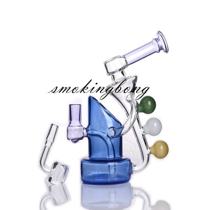 Klein Recycler Oil Rig Unque narghilè Shisha Bang Bong Bongs Bonger Fumo Bruciatore per fumo Accessori per sigarette Chicha Burbller