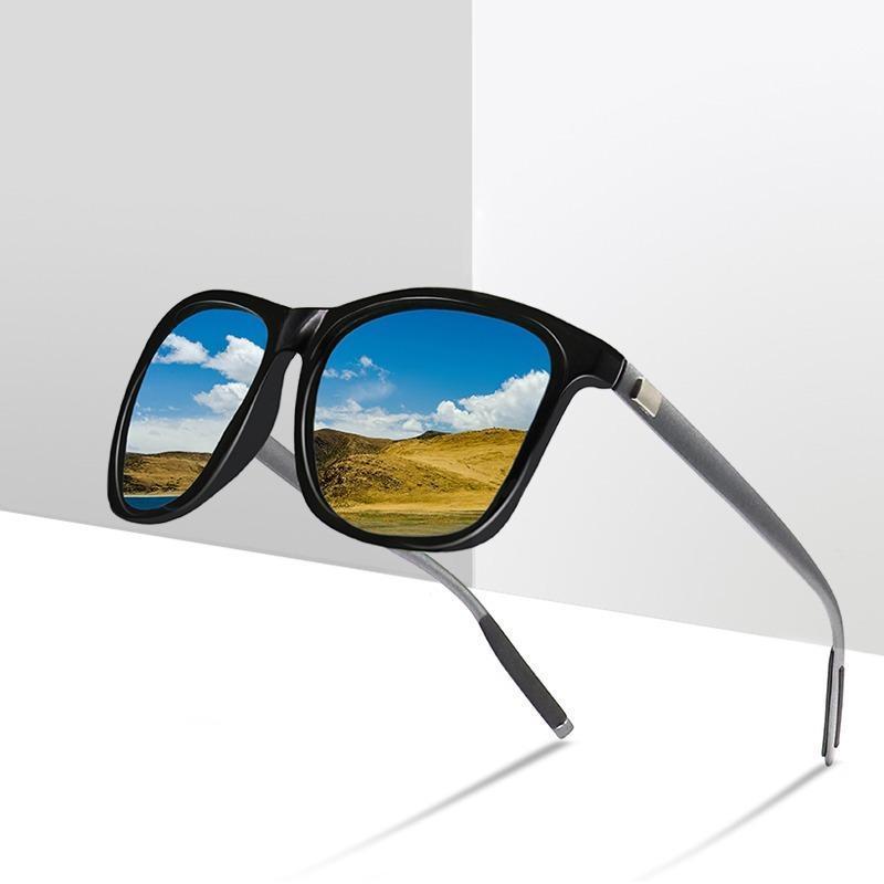 UV400 Polarized UV400 Sunglassse Hommes Dazzle Color Driver Classic Retro Marque Designer Lumière Soleil Soleil Flexible Sunglasses
