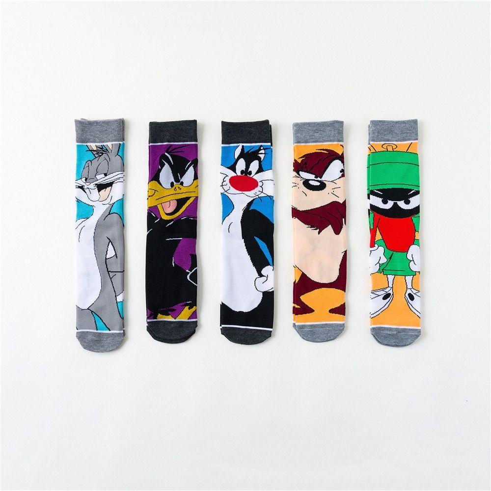 Komik Çorap Erkekler Hip Hop Joker Yenilik Novedades Sanat Sokak Giymek Ördek Kedi Karikatür Bob Esponja