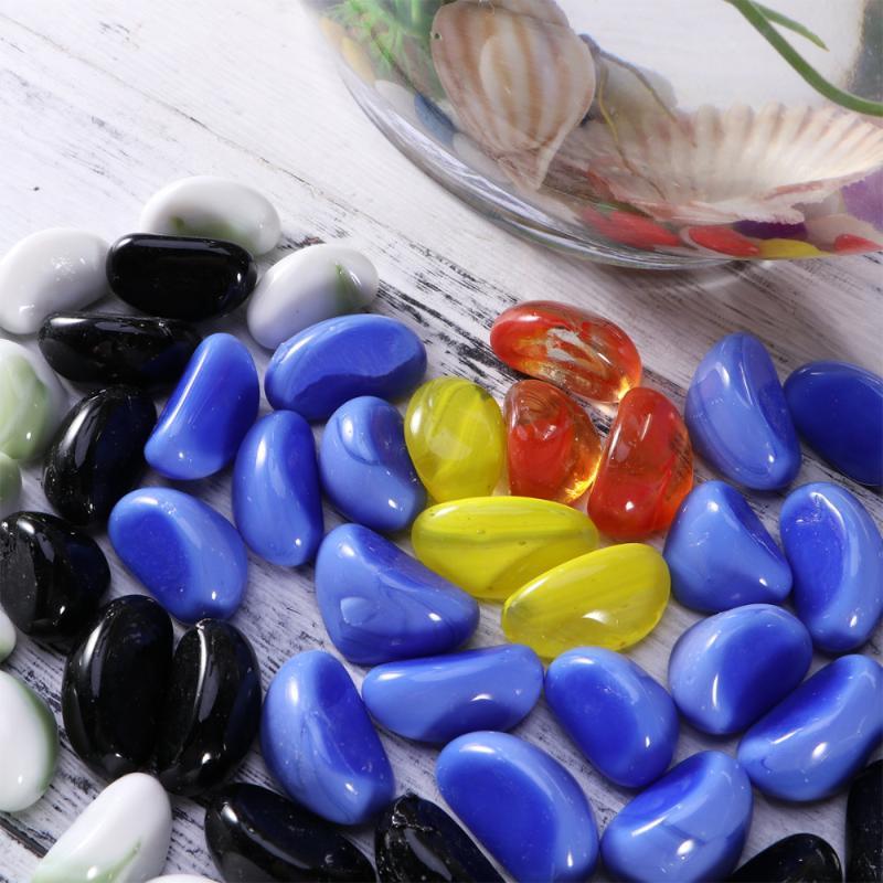 Dekorative Objekte Figuren Taschen Kieselristorische Glas Stein Künstliche polierte Sand MicroSandscape Aque Tank Flasche (Mischfarbe)