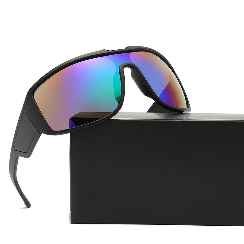 Fashion Goggle Style Sunglasses Special Large Frame With One Piece Mercury Lenses Cool Rider Designer Sports Eyewear Multiple Colors Wholesale