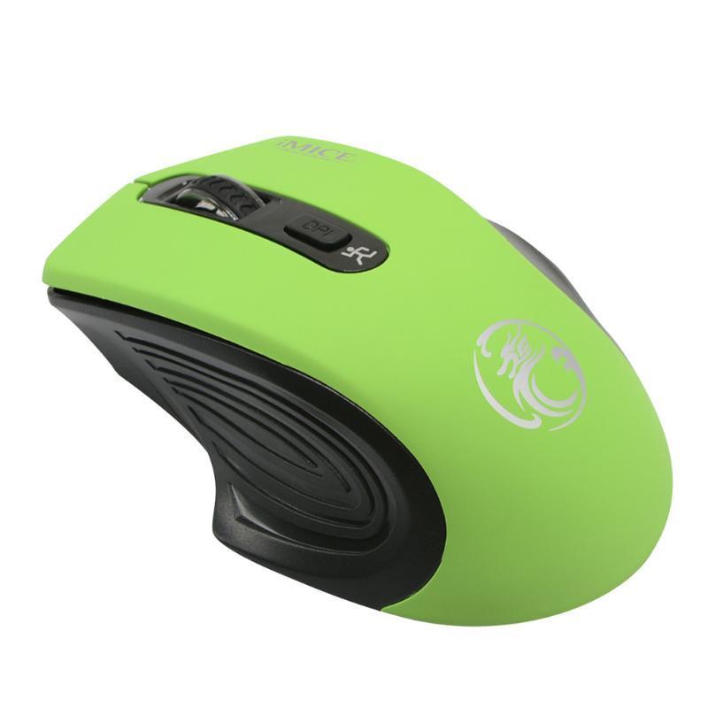 Imice E-1800 для ноутбука ПК беспроводной регулируемый USB приемник мыши мыши MICE RATON PARA JUEGOS DE OFICINA