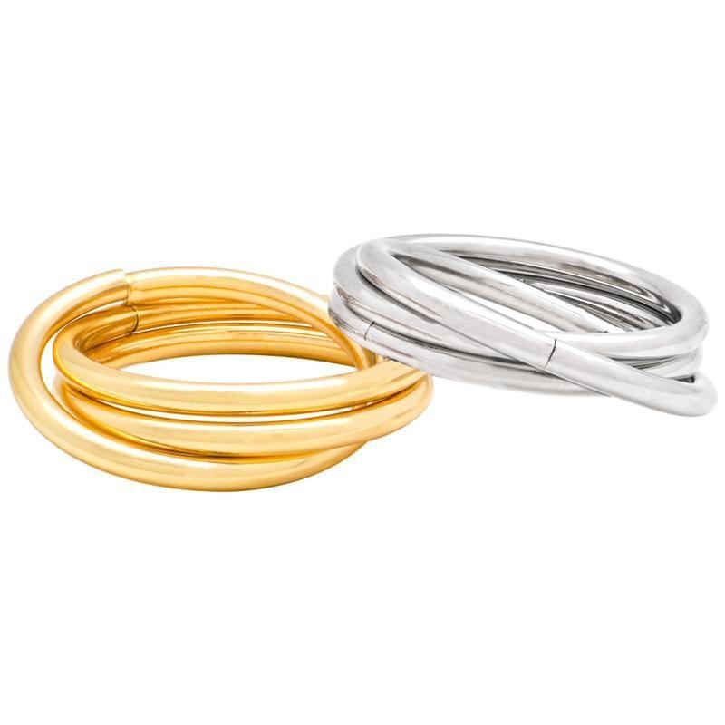 6 stücke Edelstahl Kette Metall Serviette Schnalle Ring Tuch Schmuck Ringe