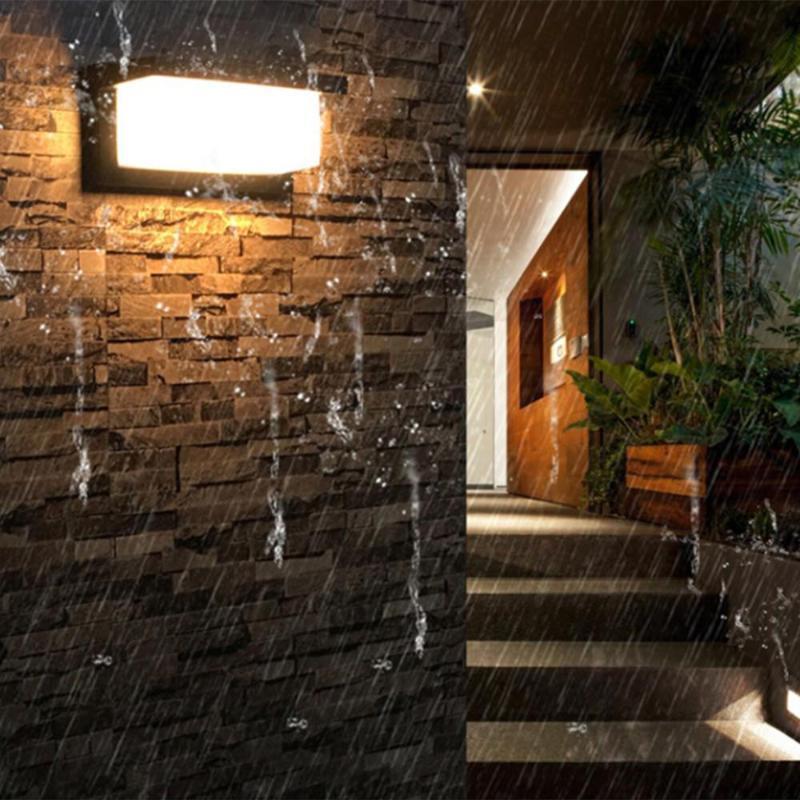 리틀케트 현대 야외 장식 방수 LED 벽 램프 야드 거리 잔디 빛 장식 램프