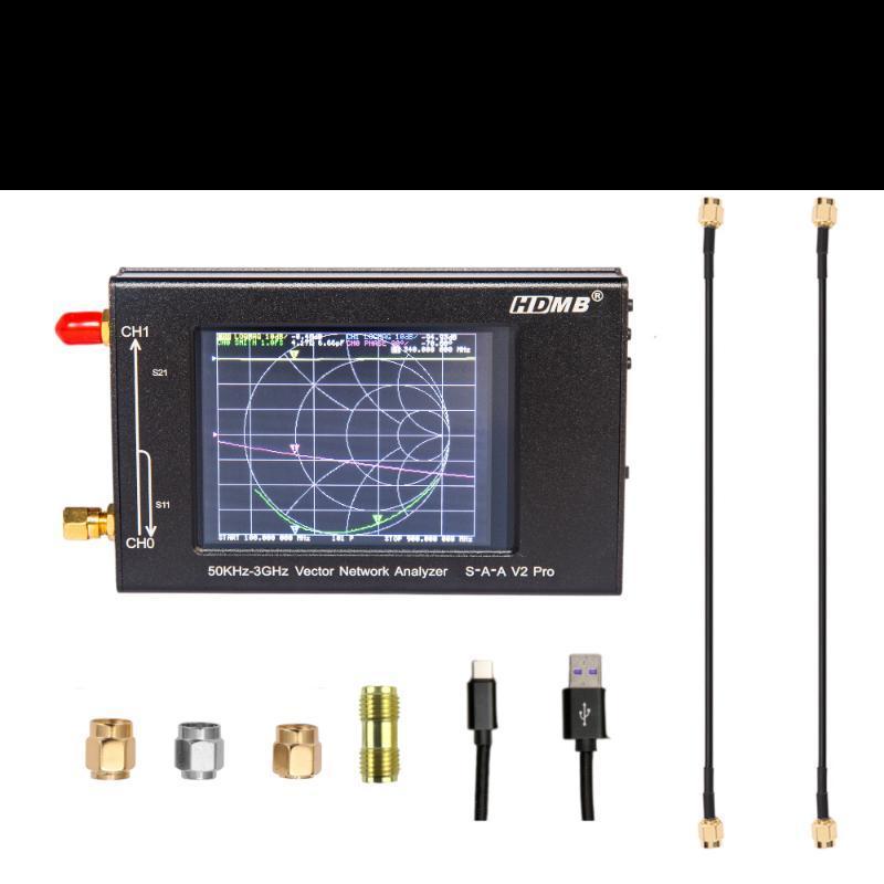 3,2 pollici IPS LCD SAA2 Nanovna V2 Pro 3G Analizzatore di rete vettoriale 50KHZ-3GHz Radio