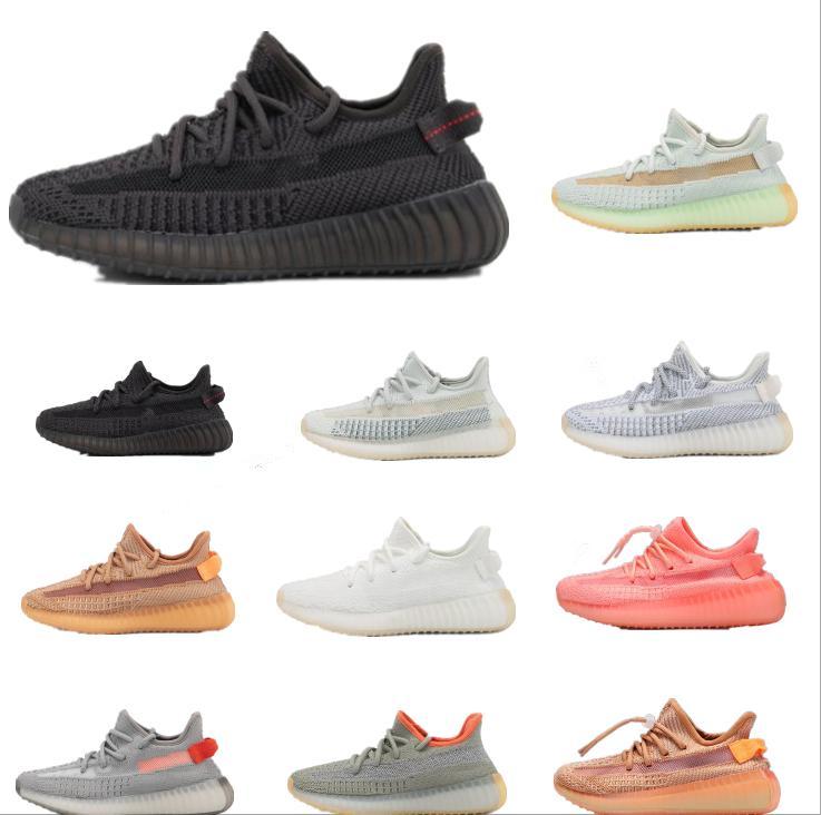 Kanye Batı Yansıtıcı Bebek Yekheil Çocuk Koşu Ayakkabıları Statik Glow Yeşil Kil Eğitmenler Büyük Küçük Erkek Kız Çocuk Toddler Sneaker 6 Renkler