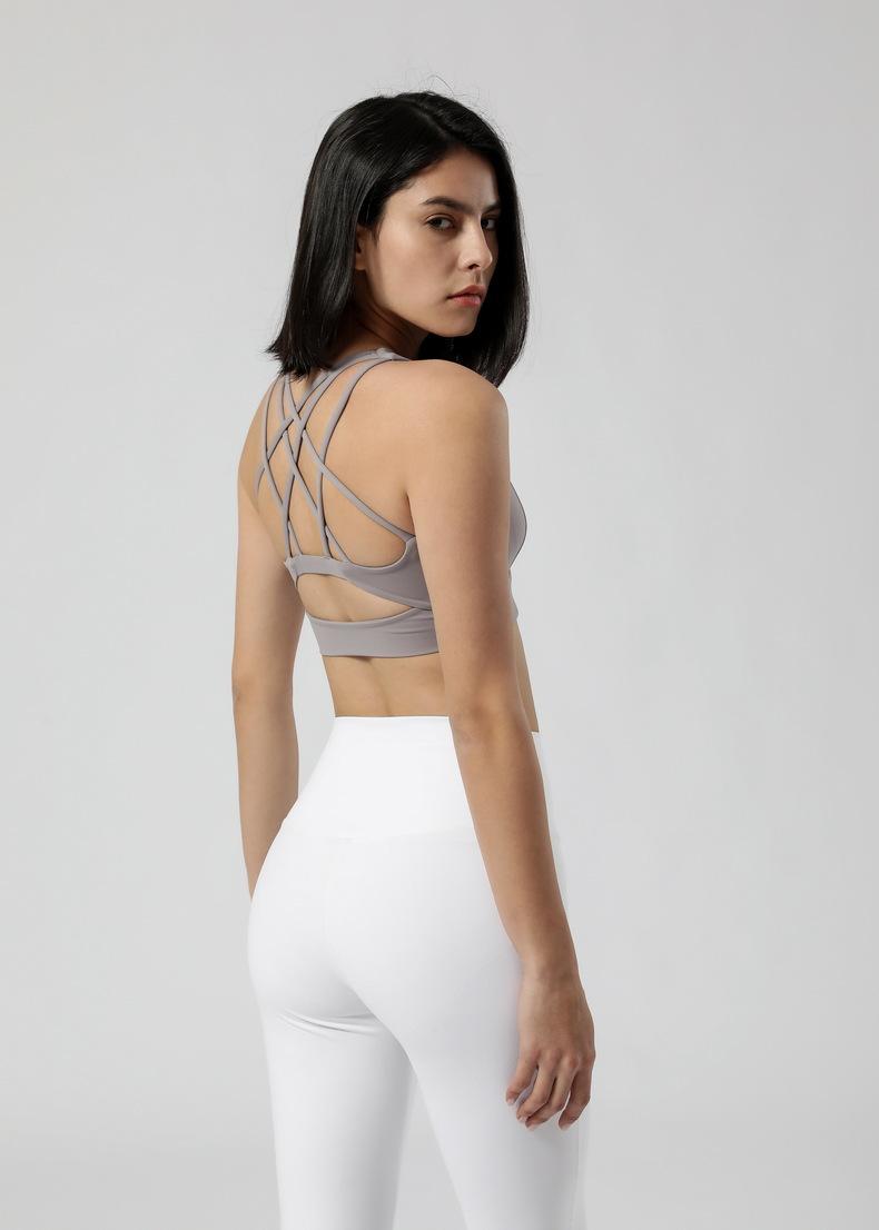 2021 흐름 자유롭게 스포츠 브래지어 넥타이 염색 된 여자 루 요가 브래지어 루루 피트니스 알몸 인쇄 꽉 크로스 백 염색 속옷