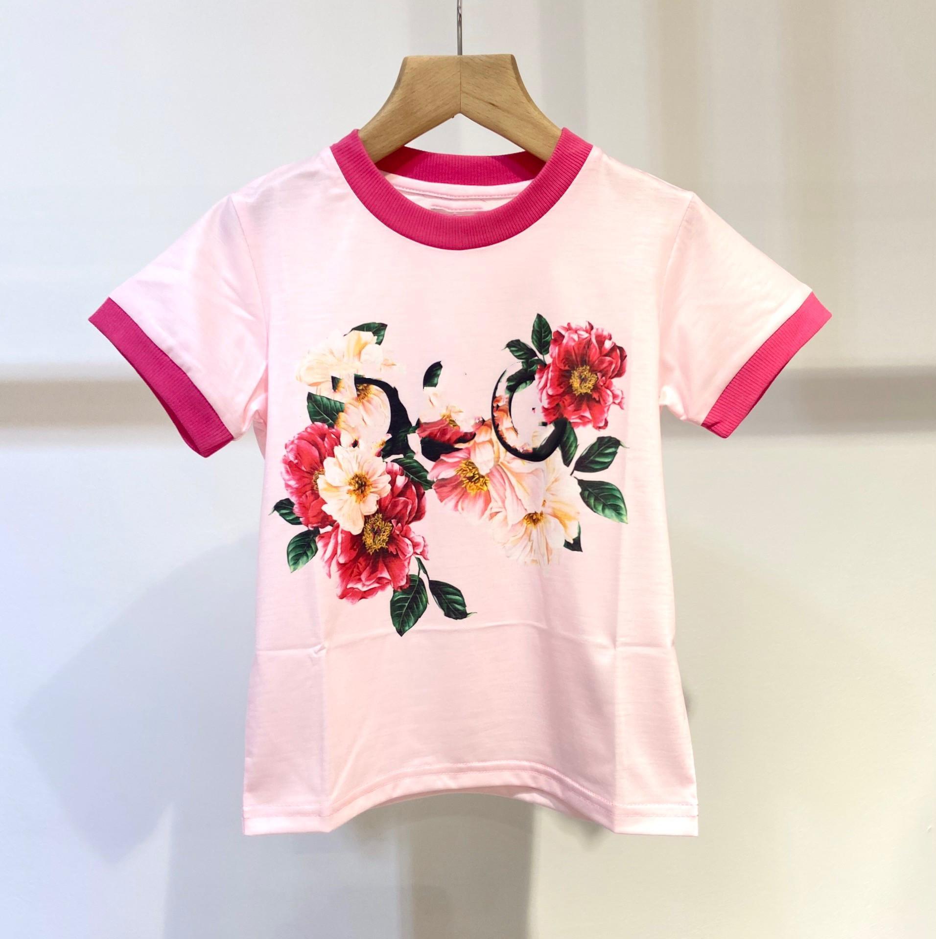 أزياء الطفل بنات تي شيرت الصيف طفلة 100٪ القمصان القطن تي تيز الأطفال ملابس الأطفال الملابس الأعلى