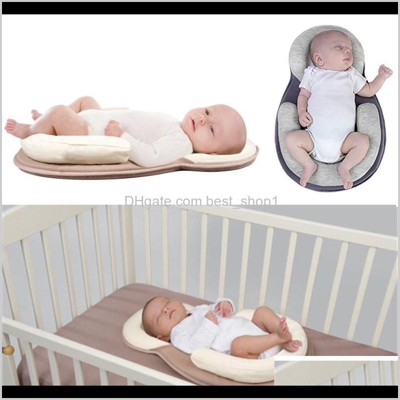 Almofada de posicionamento do sono nascido infantil prevenir a cabeça plana Forma anti-roll almofadas cair 40zth ranfh