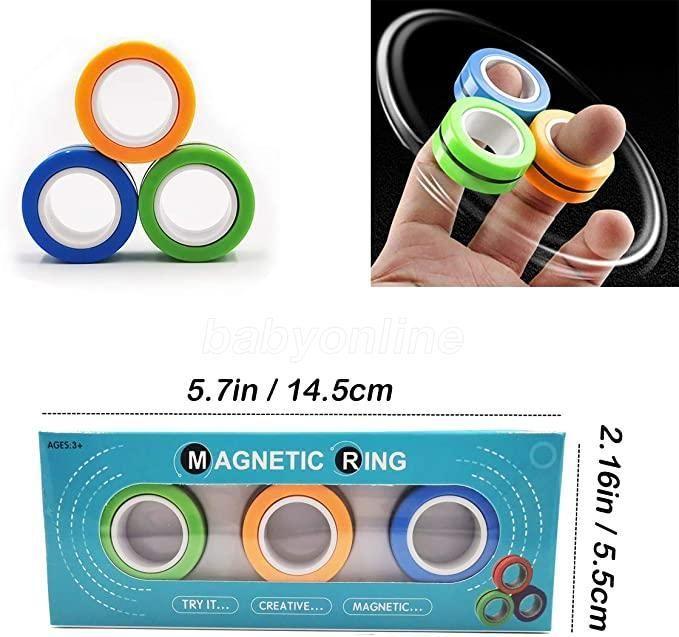 2021 Novidade EDC Fitget Fidget Spinner Anel Unzip Pulseira Fingertip Girando Spinner Gyro Stress Relief Spinner Decompression Denompression Toy