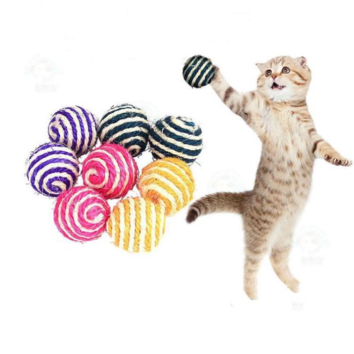 السيسة الكرة الحيوانات الأليفة القط لعبة الخدش مقاومة القطط القطط قبض كرات مضحك لعب ل 40 ملليمتر YHM248-ZWL