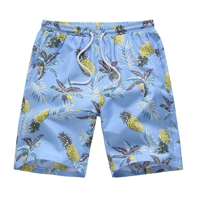ST1082021 Verão New Men's Casual Hawaiian Beach Shorts