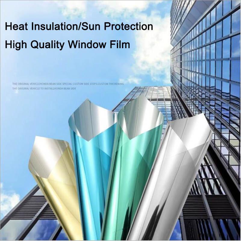 50/60/70/80/90/100x300CM One Way Mirror Window Film Self-adhesive Reflective Solar Privacy Glass Tint Stickers