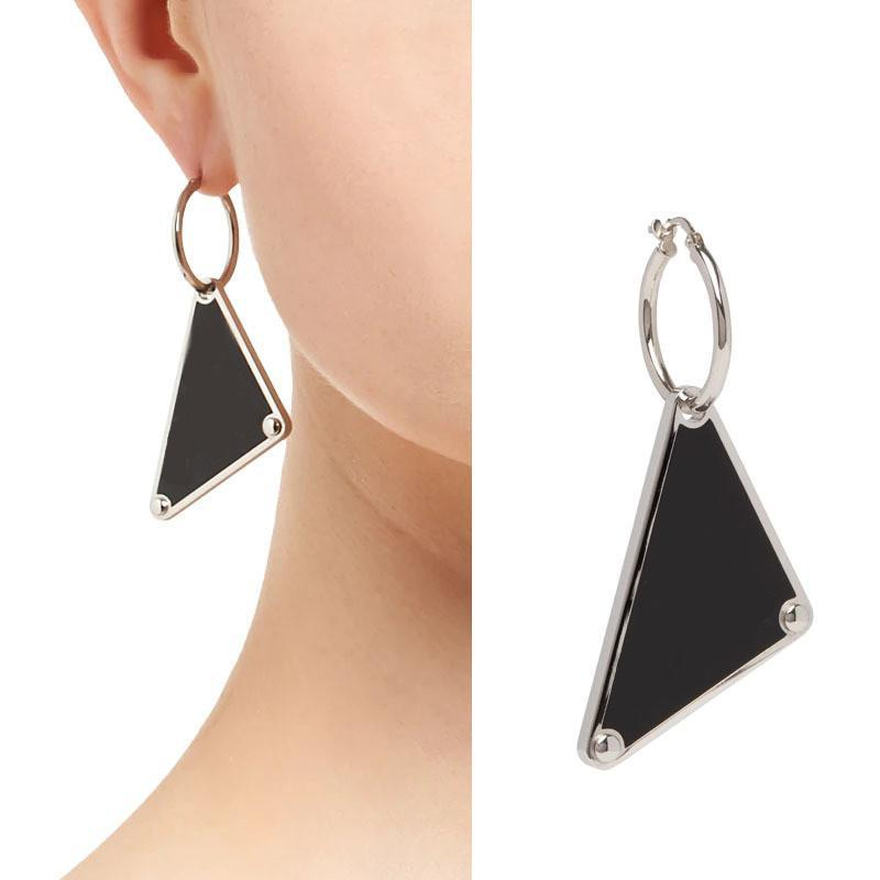 Triangle Geometric Earrings European and American Exaggerated Simple Personality Women Letter P Earrings Wild Temperament French Earrings