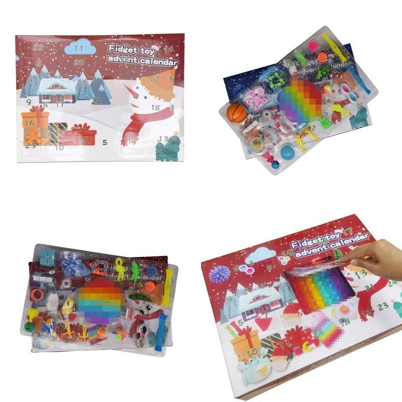 24 Days Xmas Gift Party Favor Blind Box Adult Children Countdown Calendars Fidget Toy Christmas Advent Calendar Q2