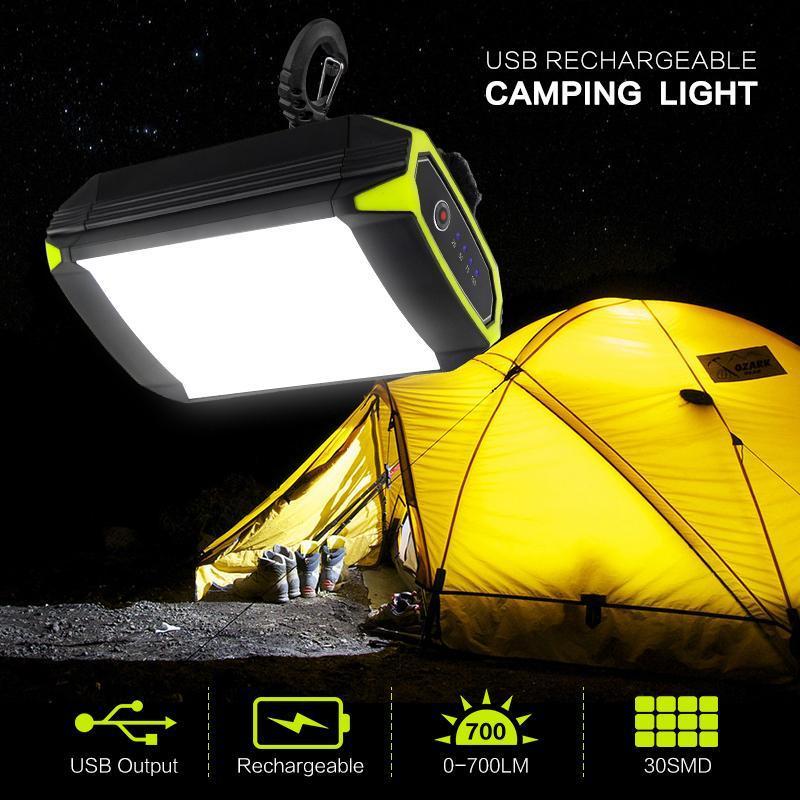 Blinker Mobile Power Bank USB-Port Camping Zeltlicht Outdoor Tragbare Hängelampe 30 LEDs Laterne Laternen