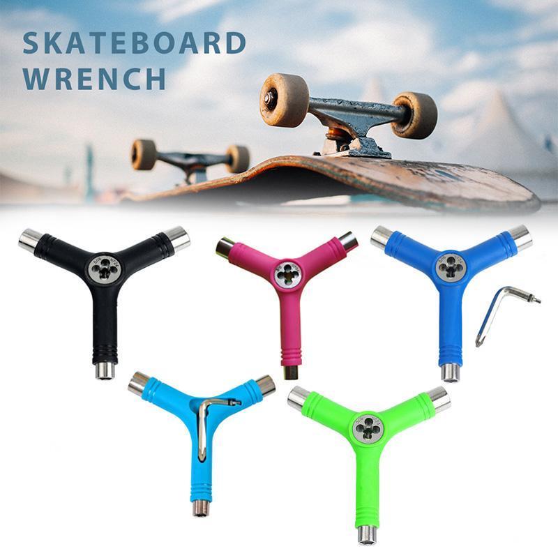 Skateboard-Reparatur Y-Formwerkzeug-tragbares multifunktionales Zubehör mit L Typ Schlüssel AIA99 Skateboarding