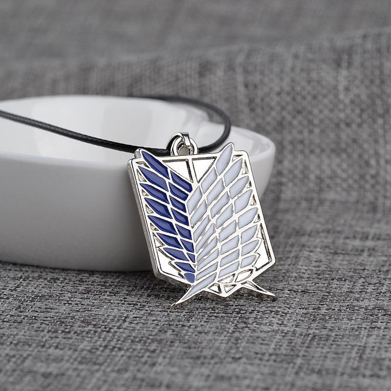 Ожерелья аниме Shinceeki No Kyojin Attack на Titan Wings Of Liberty Celecters Ожерелья Косплей Ювелирные изделия