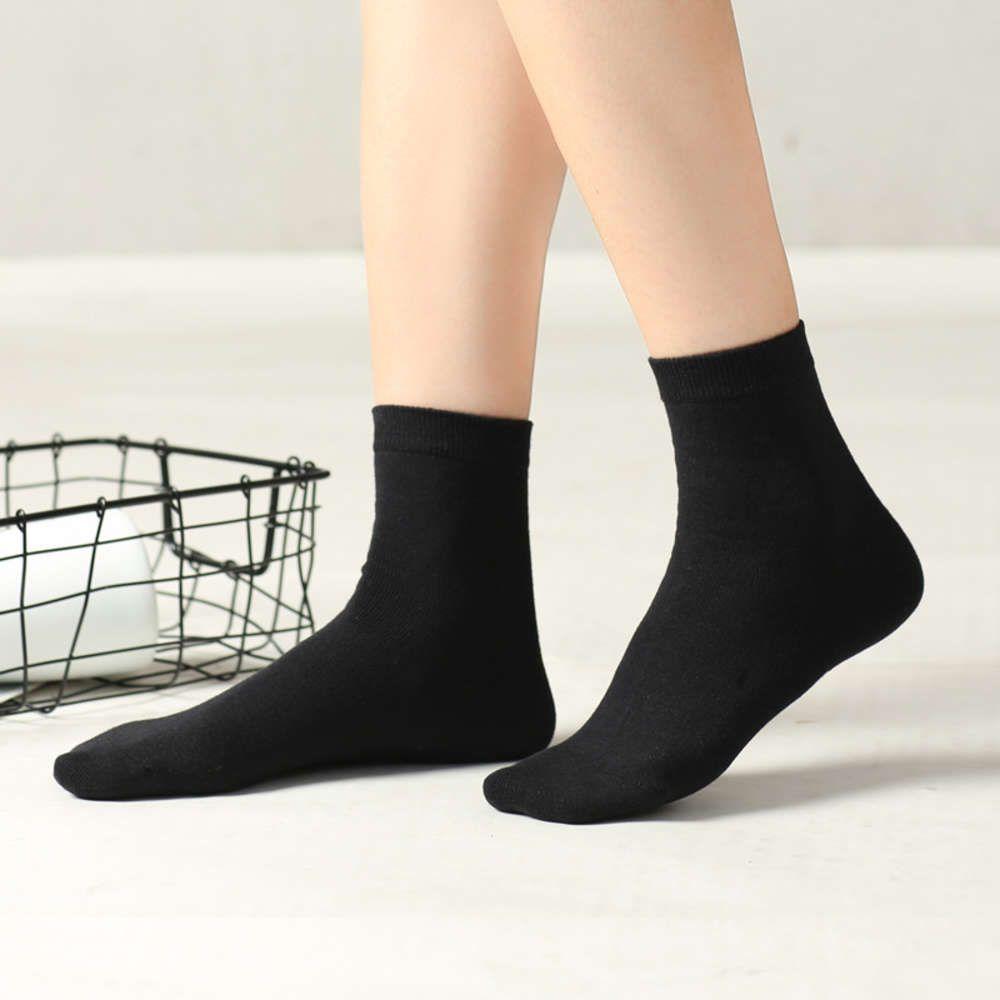 Носки женские хлопчатобумажные летние тонкие средние трубки детское издание черные белые твердые носки чулки пружины и осенью